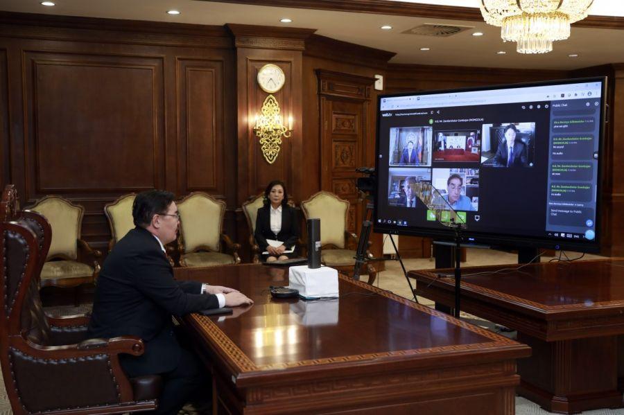 УИХ-ын дарга Г.Занданшатар Евразийн эдийн засгийн дээд хэмжээний 23 дугаар уулзалтад цахимаар оролцов